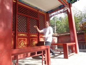 Sifu Michael Paler practicing Imperial Yang Tai Chi in the Imperial Garden at the Imperial Palace