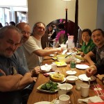 Dinner in Beijing with Shifu Wei and Kung Fu Brothers