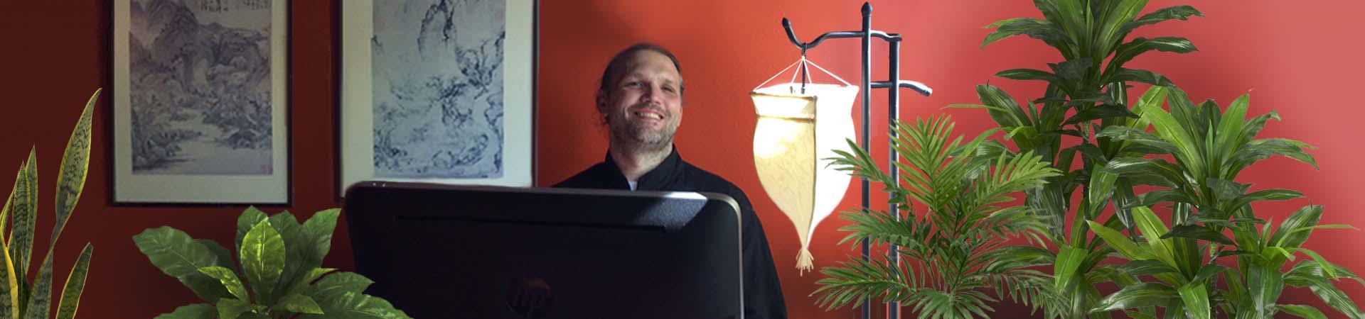 Sifu Michael Paler at his Desk